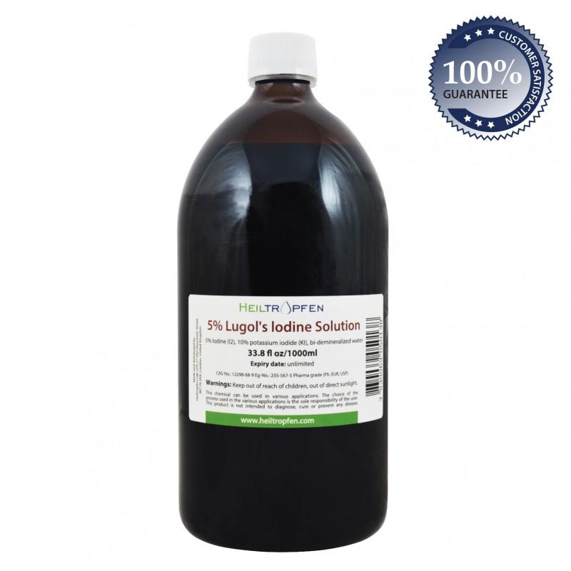 5% Lugol's Iodine Solution 33.8 fl Oz (1000ml)