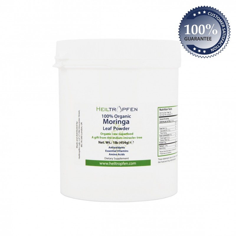 Moringa leaf powder, 100% organic 1lb (454g)