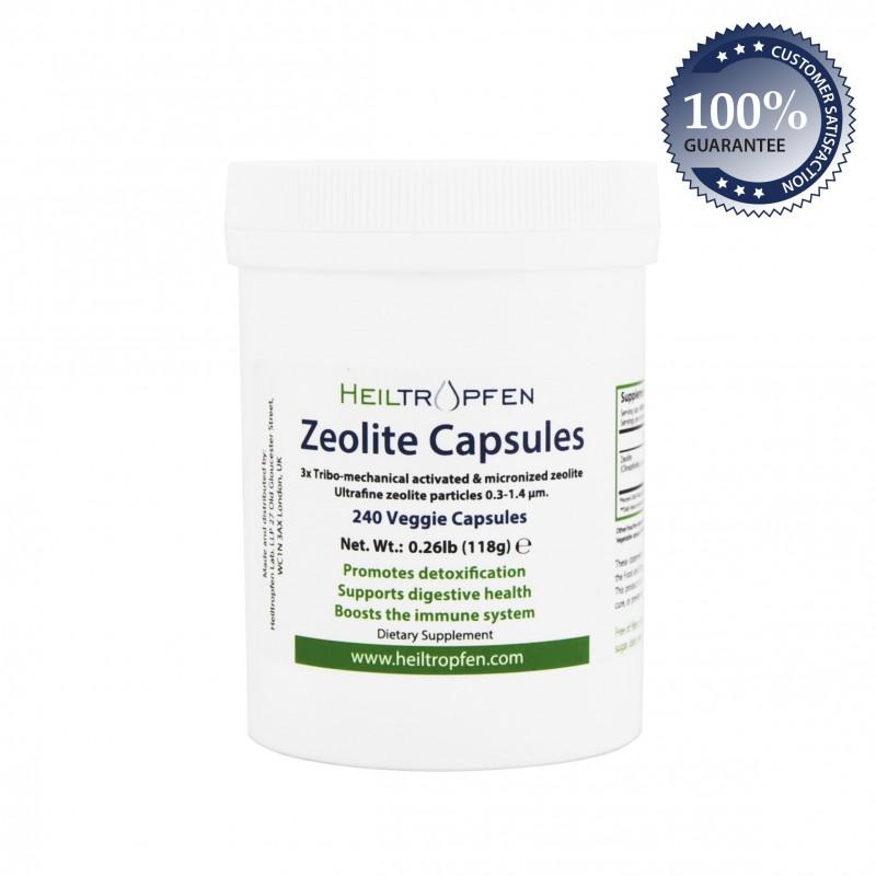 VP Zeolite capsules 3xTMA, 240 veggie capsules, 0.26lb (118g)
