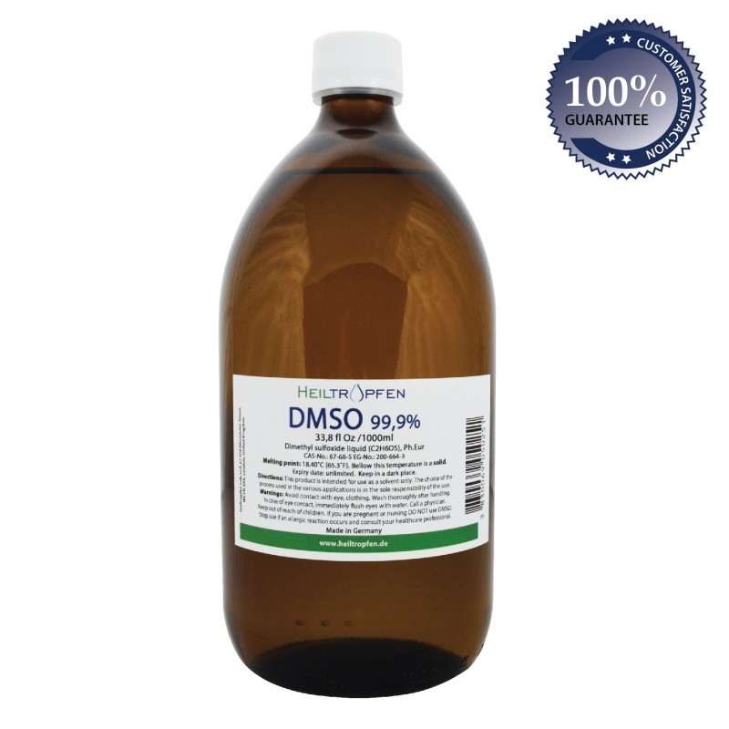 DMSO - Dimethyl sulfoxide liquid (34 Oz - 1000ml)